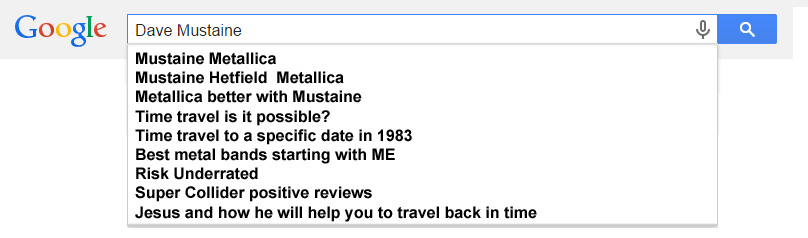 Dave Mustaine Google