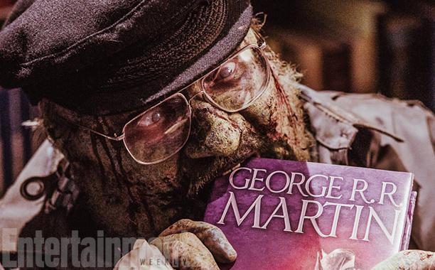 O George R.R. Martin μεταμορφώνεται σε ζόμπι και τρώει το βιβλίο του - Roxx.gr
