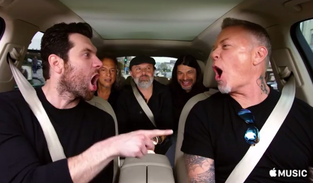 Στο επεισόδιο των Metallica για το Carpool Karaoke ο James Hetfield τραγουδάει τη μικρή γοργόνα - Roxx.gr
