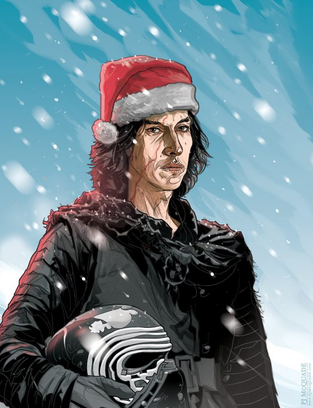 Kylo-Ren-STAR-WARS-Christmas-Card-PJ-McQuade | ROXX