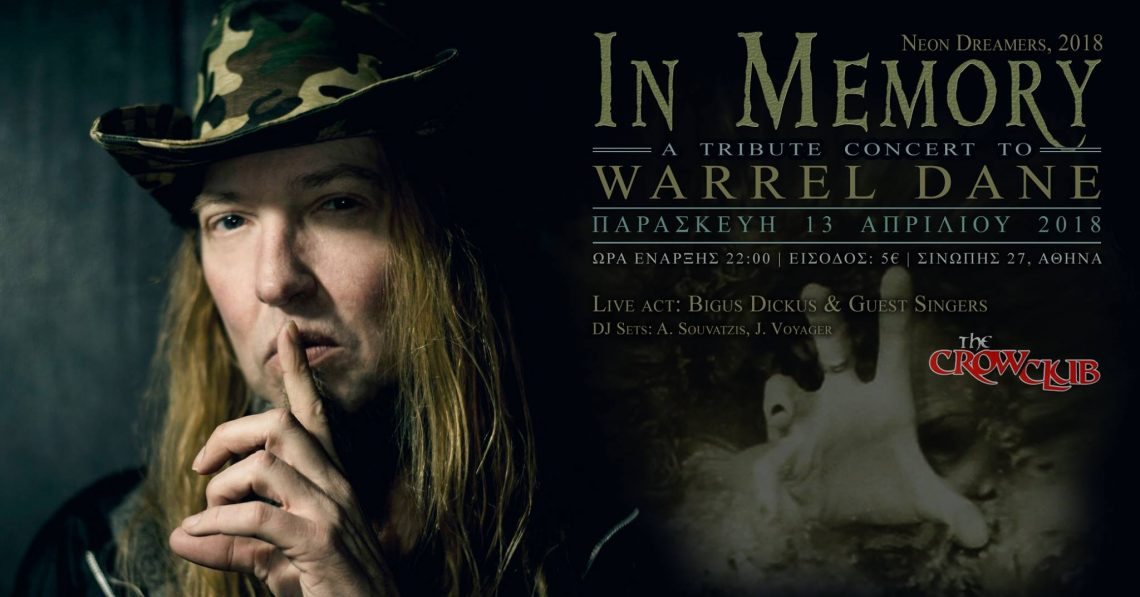 Live tribute στον Warrel Dane - Roxx.gr