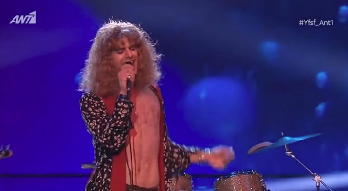 Ο Ίαν Στρατης μεταμφιέστηκε σε Robert Plant στο Yοur Face Sounds Familiar και κέρδισε - Roxx.gr