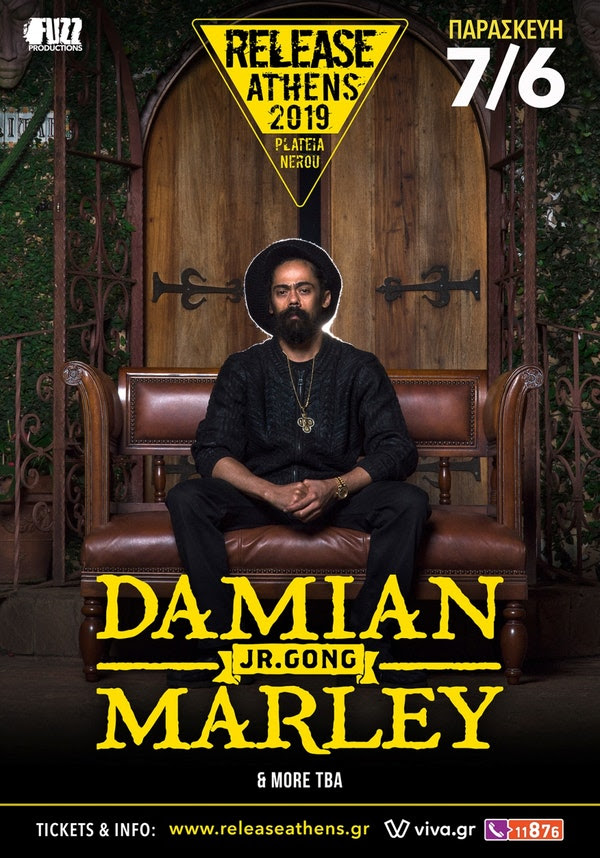 Image result for Release Athens στην Ελλάδα ο Damian Marley