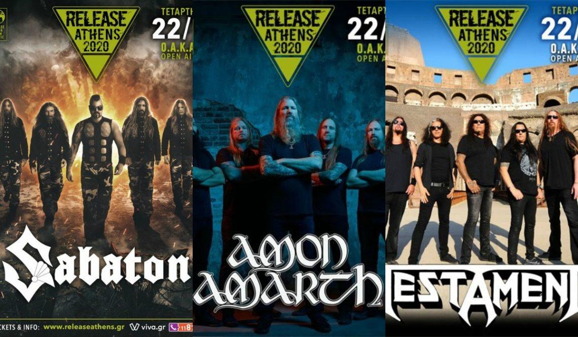 Τριπλό χτύπημα στο Release Athens με Sabaton, Amon Amarth και Testament! - Roxx.gr