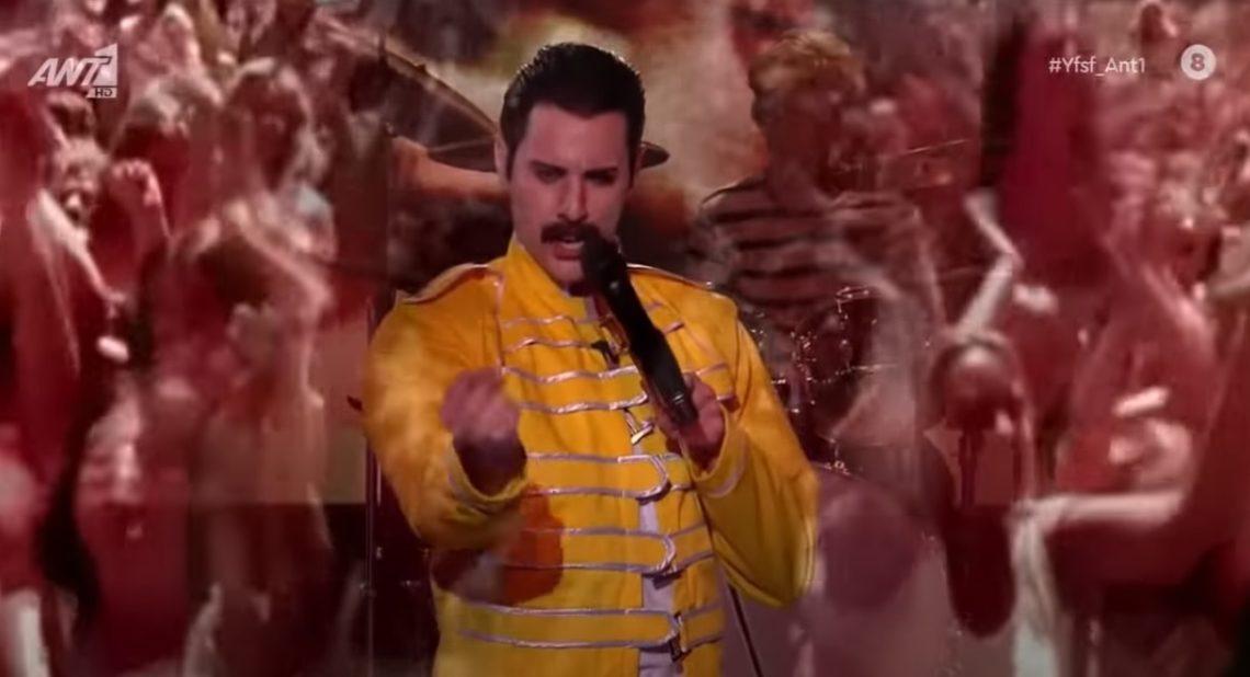O Ίαν Στρατης μεταμφιέστηκε σε Freddie Mercurie στο Your Face Sounds Familiar - Roxx.gr