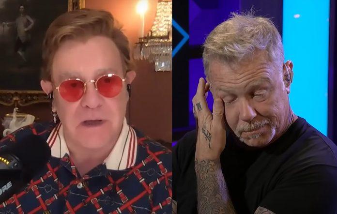 Δάκρυσε ο James Hetfield από τα καλά λόγια του Elton John για τους Metallica - Roxx.gr