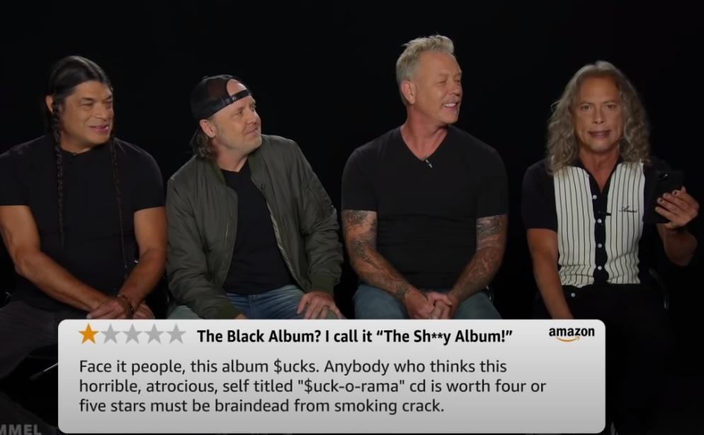 Οι Metallica διαβάζουν κακές κριτικές για το Black Album - Roxx.gr